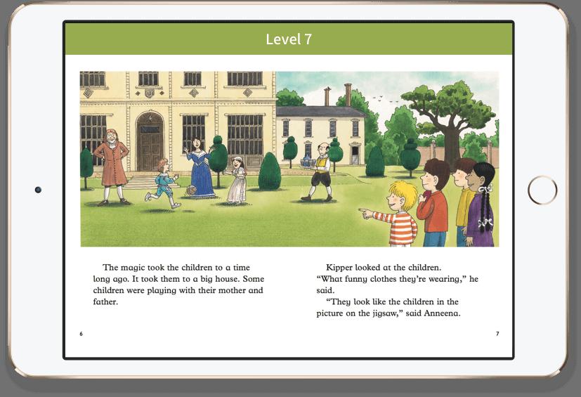 教材はOxford Reading Club(ORC)を使用。ORTシリーズ300冊が入っています!